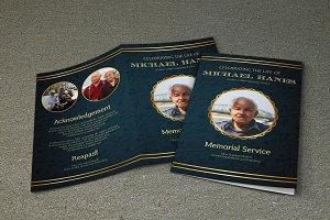 Funeral Program Template-V469