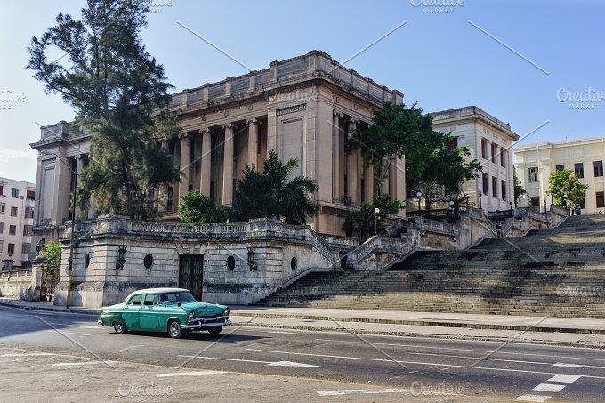 Havana cityscape, Cuba. Street view of old Havana. - Architecture