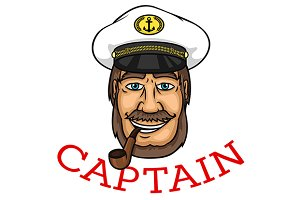 Cheerful sea captain