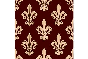 French heraldic floral pattern