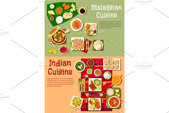 Indian and malaysian cuisine