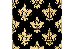 French victorian seamless pattern