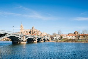 Salamanca Cathedral and Tormes river