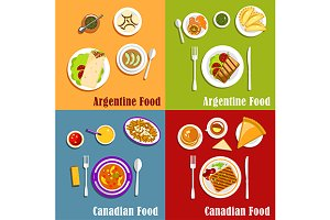 Dishes of Canada and Argentina