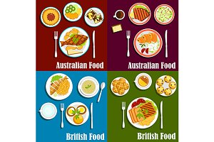 British and australian cuisine