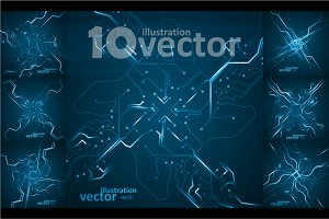 Circuit board vector backgrounds