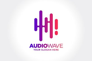 Abstract Audio Wave illustration