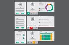 User interface vector template
