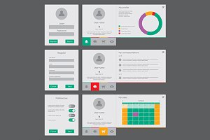 User interface vector template