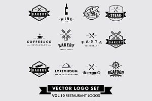 Restaurant Vector Logo Set