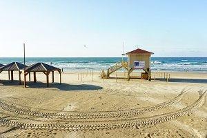 Lifeguard tower at Tel Aviv beach
