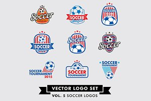 Soccer, Football Vector Logo Set