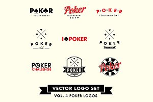 Poker Vector Logo Set