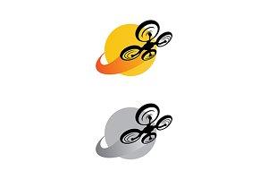 Drone vector logo template