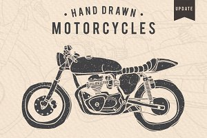 Vintage Hand-drawn Motorcycles