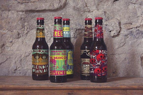 Download Beer | Bottle Prespectives Mockup
