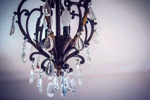 Aged Crystal Chandelier 2