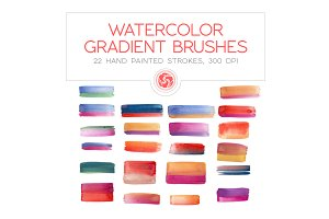 Gradient Watercolor Brushes