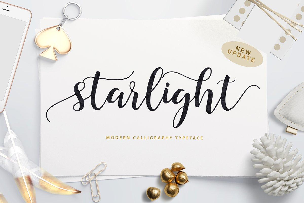 Starlight Script ~ Script Fonts ~ Creative Market