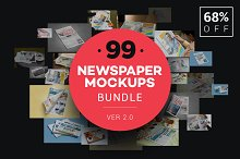 Newspaper Advert. Mockups Bundle