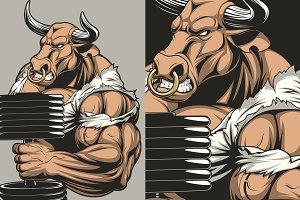 Ferocious strong bull