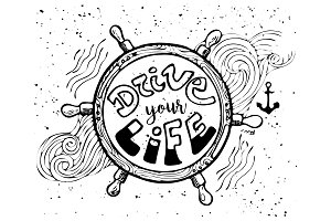 """Drive Your Life""  Illustration"