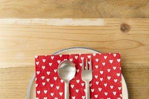 sweet dessert plate love hearts