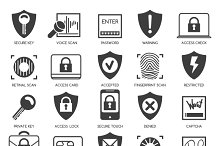 Business data security icons