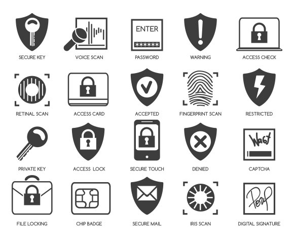 Business data security icons ~ Graphics ~ Creative Market