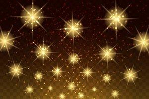 Glowing light stars background