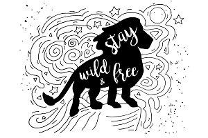 Lion Doodle Illustration