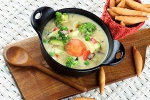 Vegetables Creamy Soup