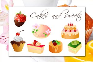 Cakes and sweets