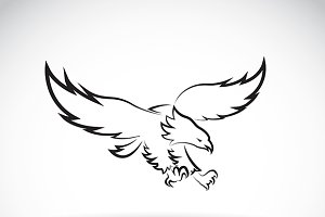 Vector image of an eagle design