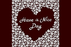 Have a nice day coffee heart vector
