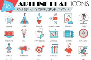 36 Startup and development icons.