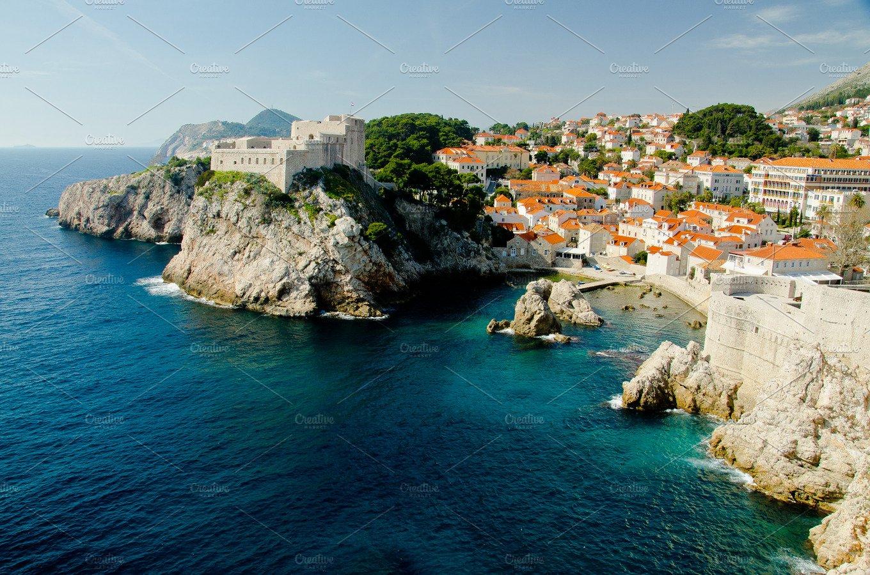 Old Harbor of Dubrovnik, Croatia   High-Quality