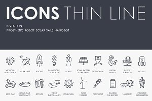 Invention thinline icons