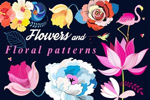 Flowers and floral patterns