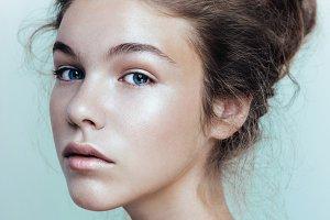 Beauty portrait of fashion model