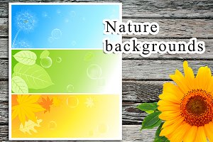 Seasonal nature banners