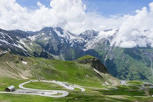 Grossglockner High Alpine Road, Austria. Alps landscape with mountain road. Austria.