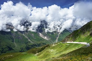 Grossglockner High Alpine Road, Austria. Alps landscape with mountain road.