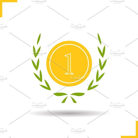 Gold medal icon. Vector - Icons