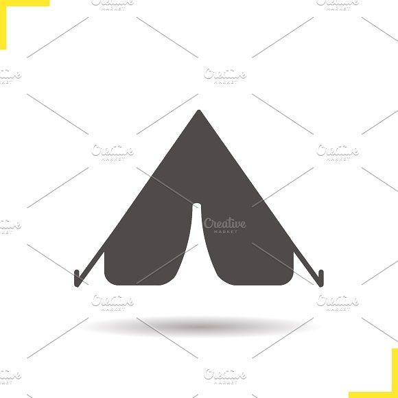 Tent icon. Vector - Icons