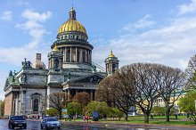 Saint Isaac cathedral also known as the museum of four cathedrals in St Petersburg, Russia.