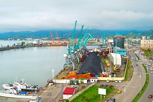 Commercial sea port, Georgia