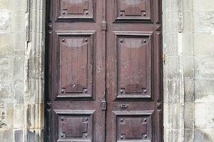 Old door in a street