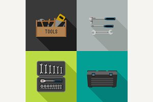 Tools flat icons