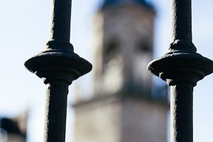 Gate with belfry unfocused